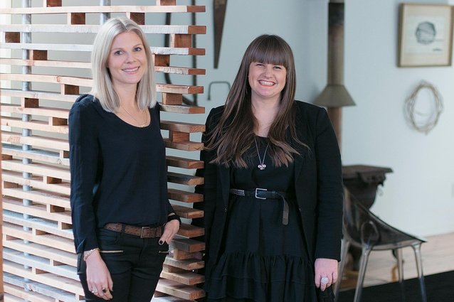 Olivia Harper and Toni Brandso in their Britomart studio.
