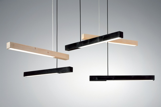 Kai Linke's cantilevered 'Blasted' lamp.