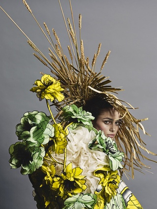 Philip Riches. Viktor&Rolf, <i>Van Gogh Girls</i> haute couture collection, spring 2015.