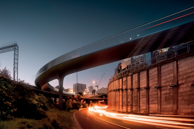 Artist's impression of Canada Street bridge/LightPath, designed by Monk Mackenzie Architects and Novare: winner of the Transport – Completed Buildings category.
