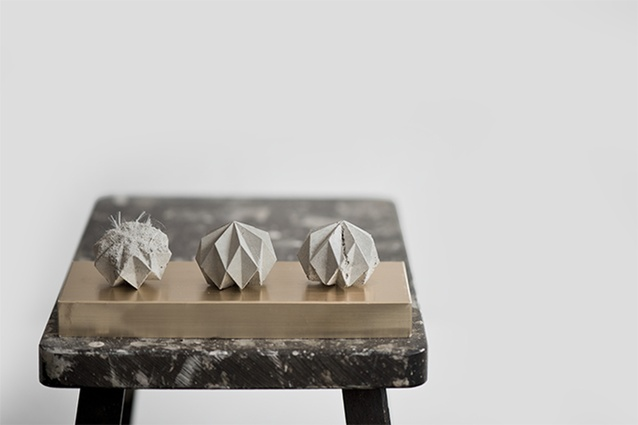 Rok Concrete Paperweights designed by Désinere.