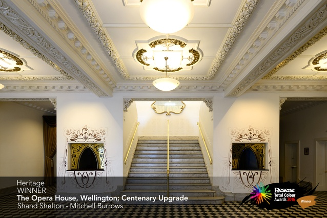 Heritage Award winner: The Opera House Wellington, Centenary upgrade by Mitchell Burrows of Shand Shelton.
