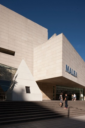 The Latin American Art Museum of Buenos Aires is on Figueroa Alcorta Avenue, in the Palermo section of Buenos Aires.