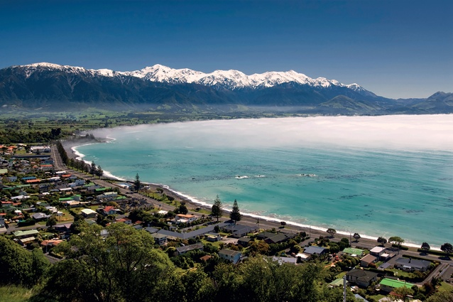 The building pays homage to Kaikoura's iconic coastline, and designers hope it will be a tourist destination in its own right when completed.