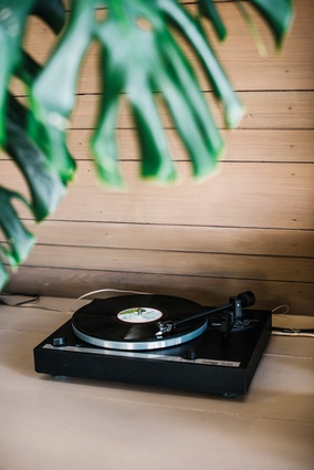 "Thorens turntable. ""I bought this when I was I asked for the cheapest version of the best make – Swiss-brand Thorens. Now the kids are jumping on the vinyl bandwagon, I've never gone through so many needles."""