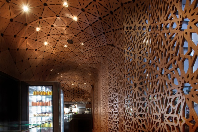 Screen and ceiling detail at Milse.