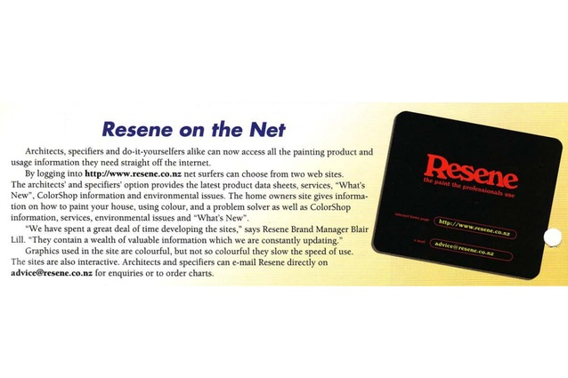 Resene enters the internet age, with a call out to net surfers everywhere.