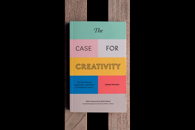 Colourful cover of <em>The Case for Creativity</em> by Janes Hurman.