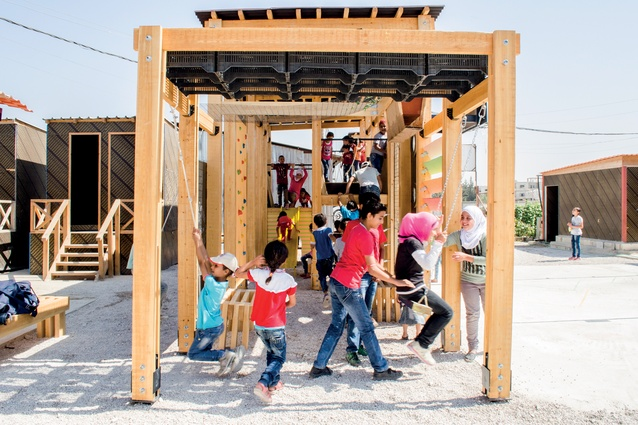 Children play in the IBTASEM playground, a project completed by CatalyticAction,  local partner Kayany Foundation and various partners and sponsors.