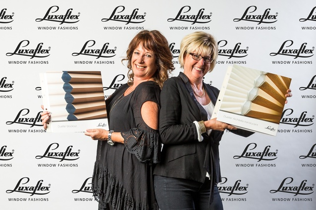 Kim Jarman, National Sales Manager Commercial and Sandy Wallace, Major Contracts Manager Commercial from Luxaflex.