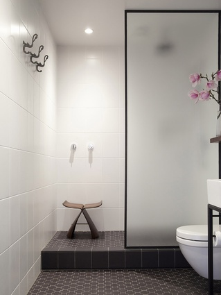 Carroll's own recently completed bathroom fit-out in Auckland's CBD.