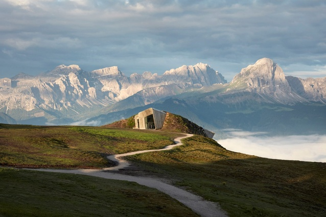 Sense of place: Messner Mountain Museum Corones, South Tyrol, Italy, by Zaha Hadid Architects, photographed by Tom Roe.