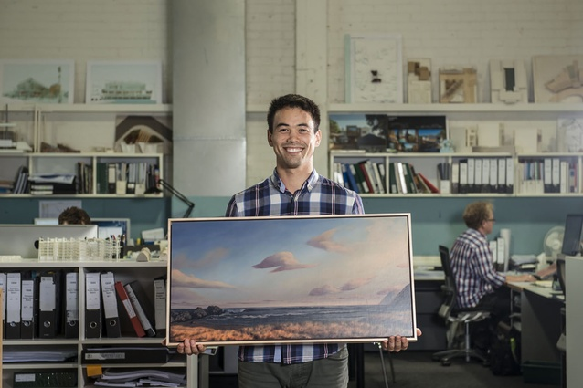 Michael Lowe, 25, has been painting finely detailed landscapes since he was a teenager.