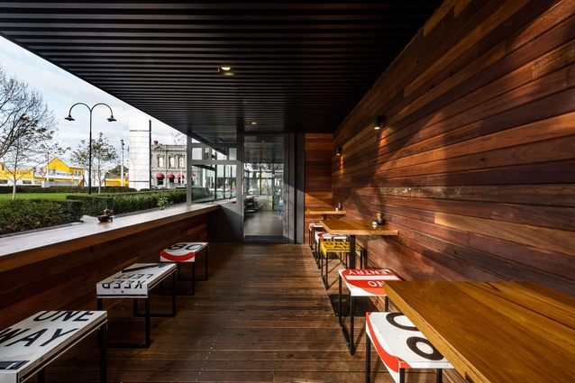 Best Cafe Design: Top Paddock Cafe by Six Degrees Architects with Nathan Toleman Design & Construction.