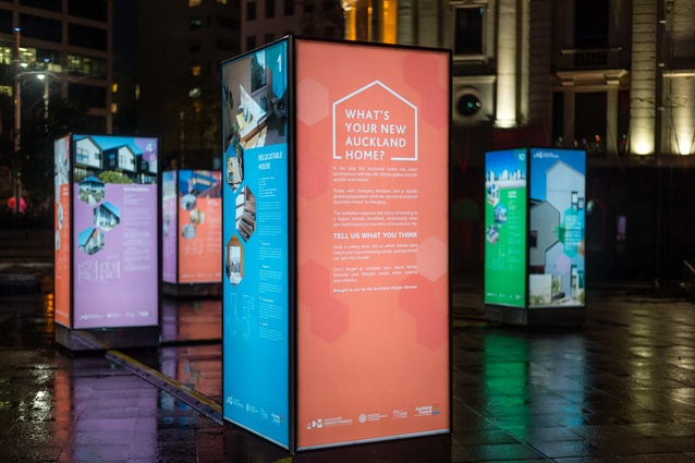 The Auckland Design Manual questioned and explored 'The New Auckland Home' in an exhibition in Aotea Square.