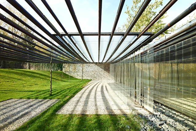 Les Cols Restaurant Marquee in Olot, Spain by RCR Arquitectes (2011).