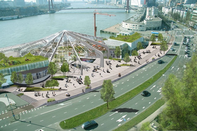 Render of Blue City, a blue economy innovation centre in Rotterdam that will bring together like-minded businesses.
