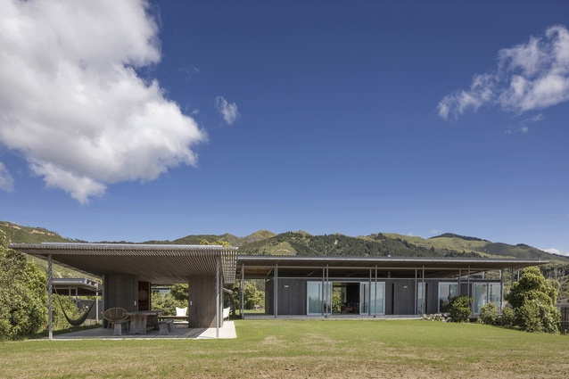 Completed Buildings, Villa category winner: Bach with Two Roofs, Golden Bay, New Zealand by Irving Smith Architects.