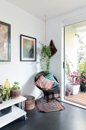 Plants keep the couple actively engaged in their home.