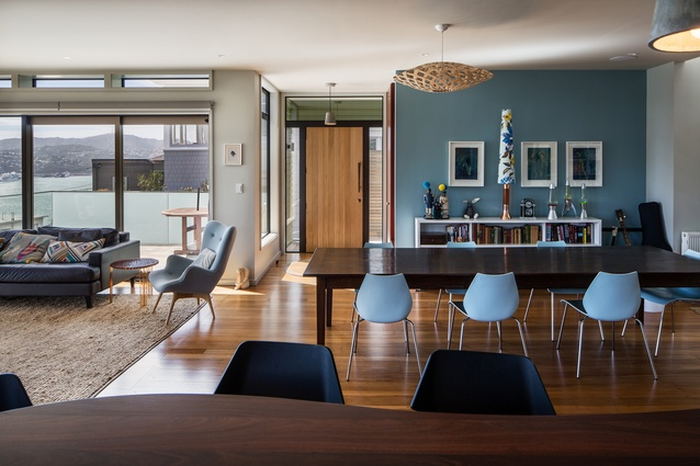 Resene Total Colour Residential Interior Colour Maestro Award: Crescent Home by John Mills of John Mills Architects.
