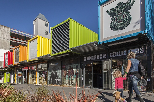 Christchurch's Re:Start container mall.