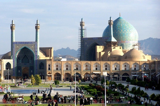 Imam Mosque in Naghsh-e-Jahan square in Isfahan, Iran.