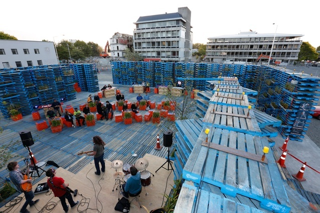 The Pallet Pavilion offered a temporary venue for music and cultural events.