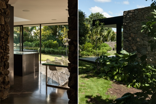 A strong connection between garden and interior dominates throughout the home.