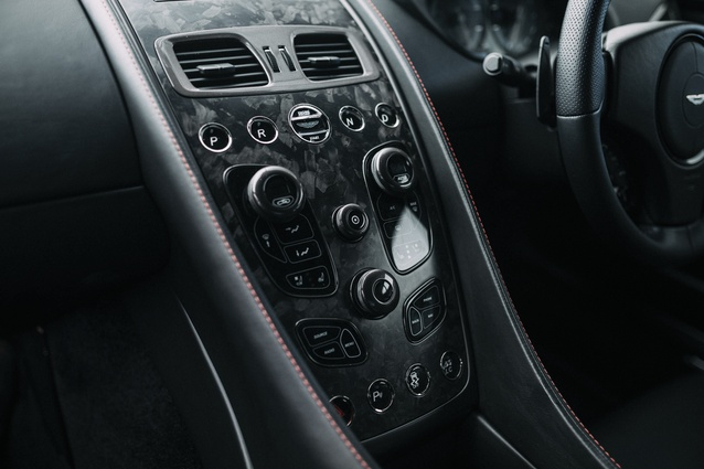 Centre console with finely judged materials and exquisite detailing.