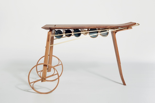 UK designer Hugh Miller's Coffee Cart No.1 is like a tray on wheels, with cup storage below, making breakfast in bed a breeze.