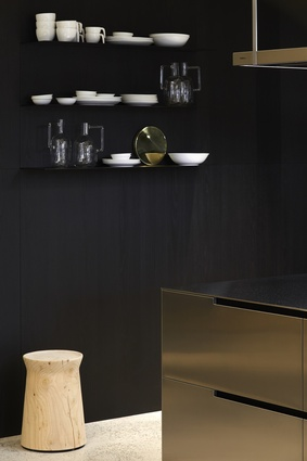 The two new kitchens are tied by a shared boldness and, perhaps more subtly, a confidence of materiality, combining a mixture of finishes to a surprisingly stunning effect.