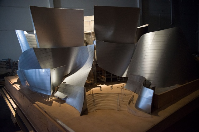 Model of the Walt Disney Concert Hall by Frank Gehry.