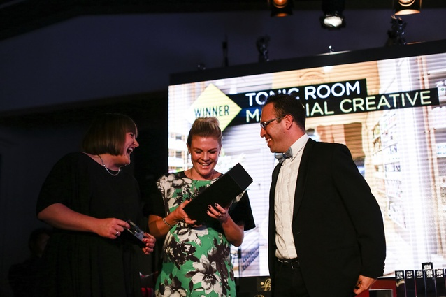 Retail Award winner: Tonic Room. L to R: Toni Brandsoa and Liv Harper of Material Creative.