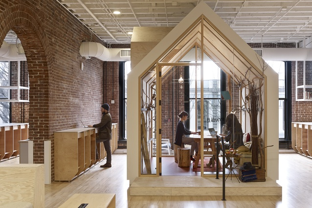 Airbnb office in Portland, designed by Bora Architects and Aaron Taylor Harvey and Rachael Yu.