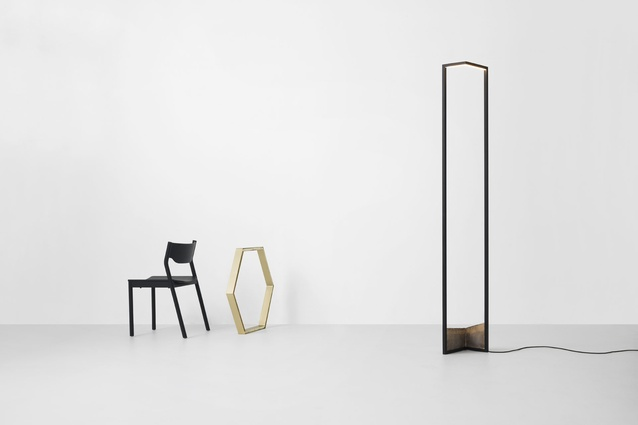 The 2014 Resident collection includes the Foundry Floor Light by Nat Cheshire.