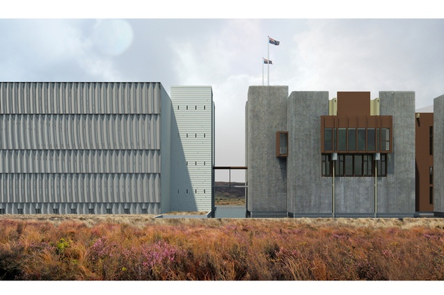 Visualisation of addition to NZ Army Museum, Waiouru, from MArch (Prof.) thesis 'The Lost, Erased, Unseen and Forgotten: Translating into Architecture the New Zealand Wars' in 2012.