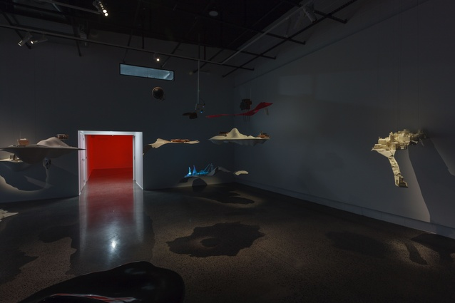The visiting Future Islands exhibition at Object Space gallery (now finished).