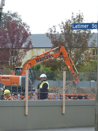 The foundations will bring the building up to 130 percent of the new building code in Christchurch.