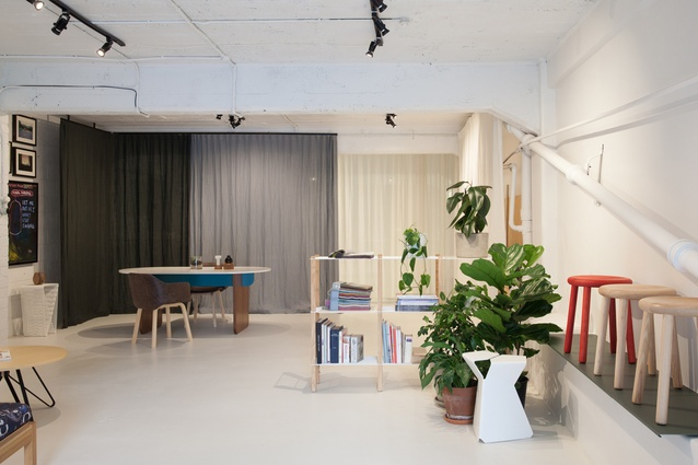 Interior of Nathan Goldsworthy's new showroom.