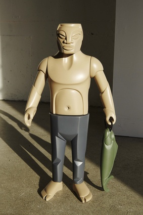 Art toy figurine 'Uncle David' by Leon Kipa. Made from cast polyurethane resin.
