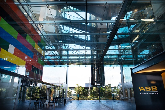 ASB North Wharf. Awarded a 5 Green Star Office Design rating in 2013.