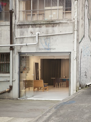 Nathan Goldsworthy's new showroom and workshop.