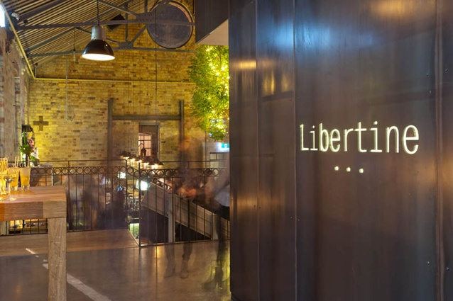 Entrance to Libertine by Pack & Company.