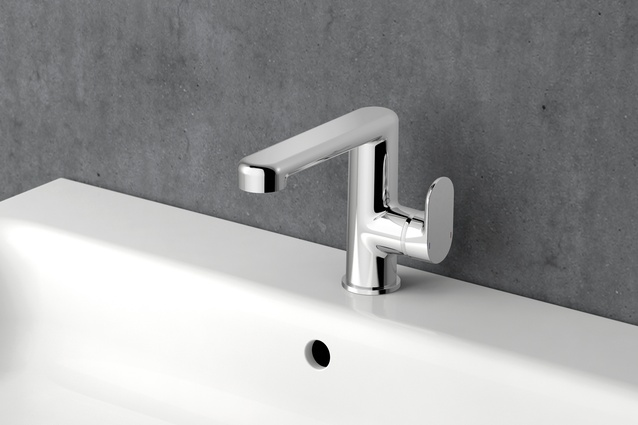 JADO stainless steel tap fittings feature soft edges.