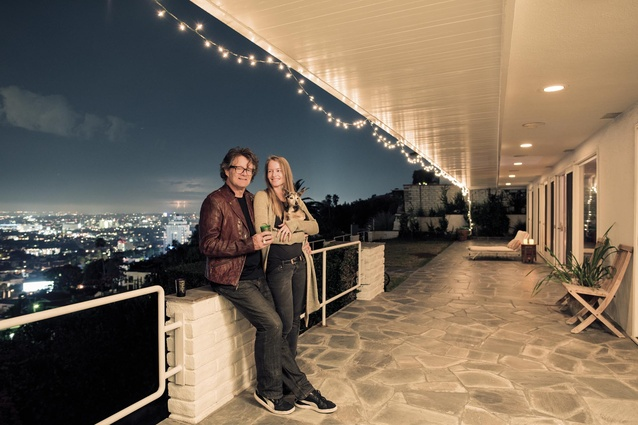 The home above the Hollywood Hills has exquisite views of the City of Angels.