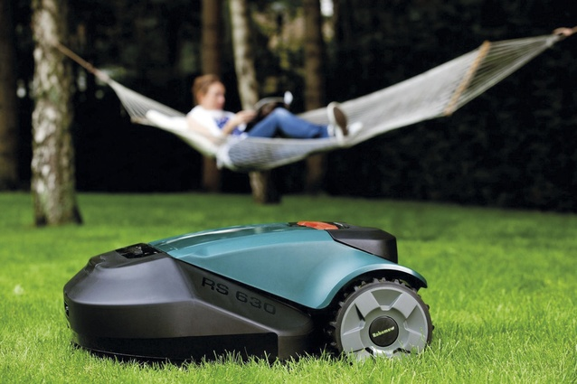Robomow RS612 lawnmower.
