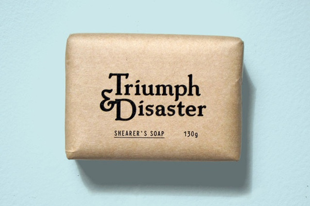 4. Triumph and Disaster Shearer's soap. Brown paper packaging with clean typography makes this soap for blokes ultra hip and masculine. triumphanddisaster.com