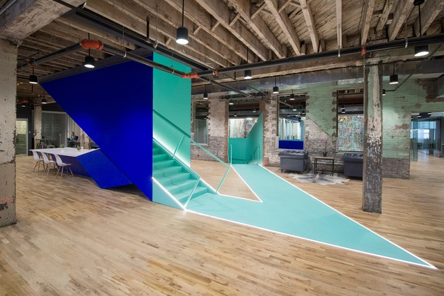 A coworking space in Brooklyn, New York by Leeser Architecture.