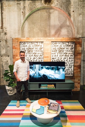Interior designer and author Jason Grant at the Sony A1 launch.