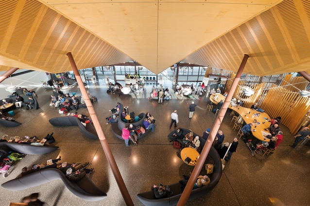 Air New Zealand Regional Lounge Christchurch, designed by BVN Donovan Hill, in association with Jasmax.